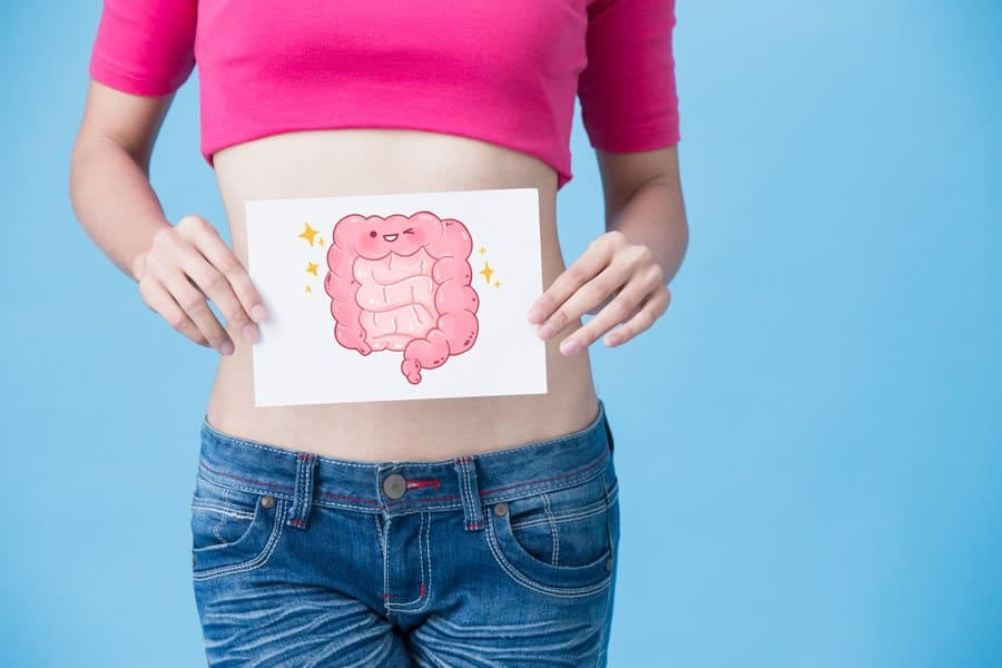 Woman in need of efficient, natural treatment options for digestive issues.