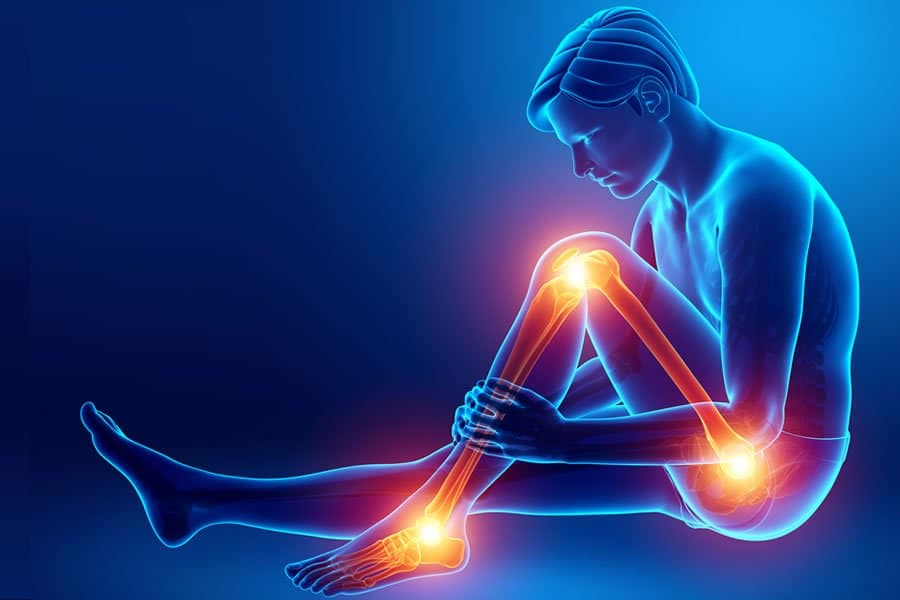 A man suffering from joint pain wondering about a possible efficient treatment
