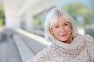 Elderly patient suffering from menopause symptoms