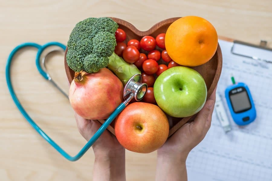 Healthy fruit and vegetables, recommended during our nutritional consultations