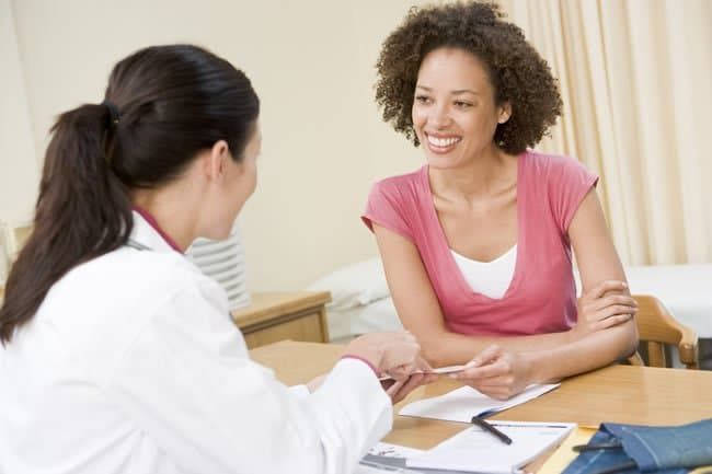 Woman receiving advice on hormone balancing from a LifeWorks doctor