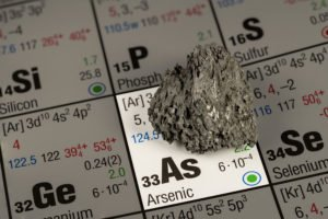 Chemical element called arsenic. We offer heavy metal detox treatments.