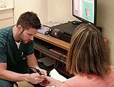 LifeWorks patient receiving the Meridian Health Analysis