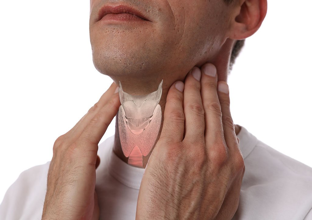 Man suffering from Thryroid disease. You can find the best thyroid doctor in Tampa at LifeWorks