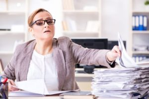 Business woman suffering from Thyroid Disease