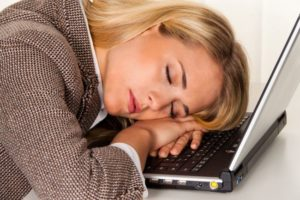 Woman suffering from chronic fatigue