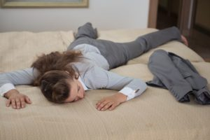 Woman suffering from exhaustion