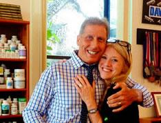 David Minkoff with a happy patient, who has recovered from Lyme
