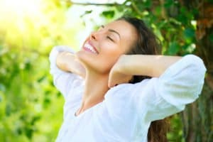 A happy woman. We offer Hocatt therapy sessions