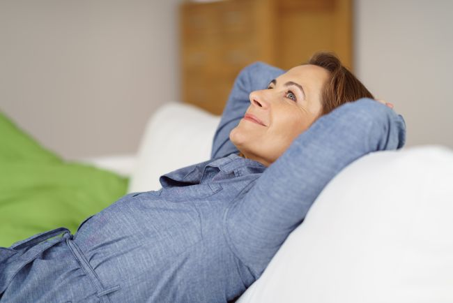 Resting woman, wondering if she should make a Well woman exam