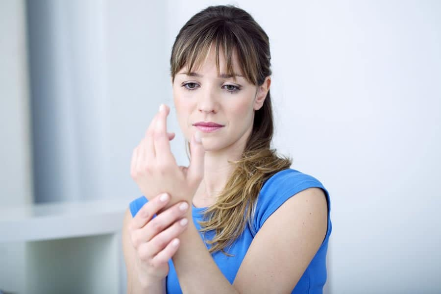 Woman who was successfully treated for joint pains