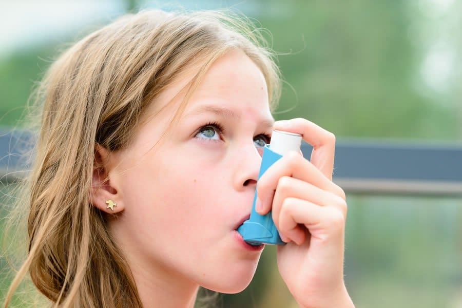 Kid suffering from Asthma