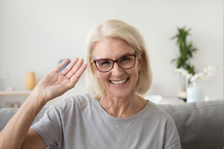 Happy woman who received effective Cancer treatment