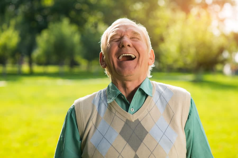 Happy elderly man who recovered from Lyme disease in just 4 weeks